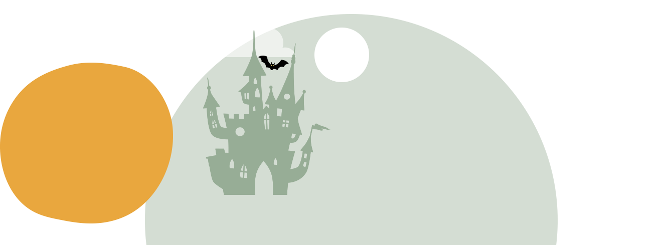 A spooky house in the distance