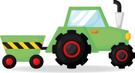 A tractor and trailer